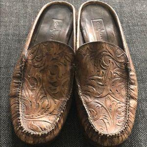 Cole Haan Embossed Leather Mule